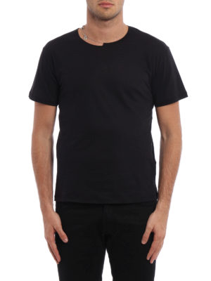 Valentino: t-shirts online - Metal necklace cotton T-shirt