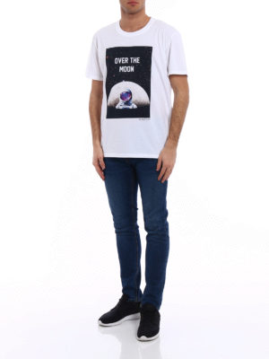 Valentino: t-shirts online - Over the moon jersey T-shirt