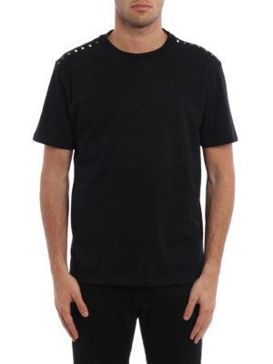Valentino: t-shirts online - Rockstud cotton T-shirt