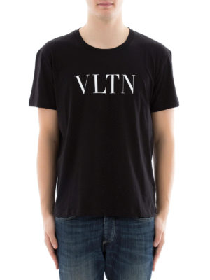 Valentino: t-shirts online - VLTN black t-shirt