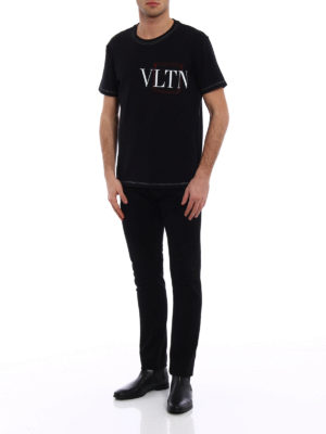 Valentino: t-shirts online - VLTN exposed stitchings T-shirt