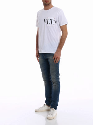 Valentino: t-shirts online - VLTN exposed stitchings Tee
