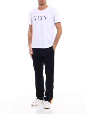 Valentino: t-shirts online - VLTN print jersey T-shirt