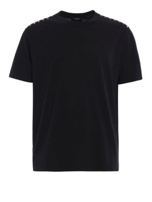Valentino: t-shirts - Rockstud cotton T-shirt
