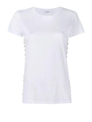VALENTINO: t-shirt - T-shirt Rockstud in cotone bianco