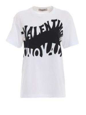 VALENTINO: t-shirt - T-shirt in cotone con stampa Valentino