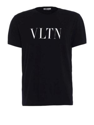 Valentino: t-shirts - VLTN print black T-shirt