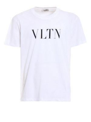 Valentino: t-shirts - VLTN print jersey T-shirt