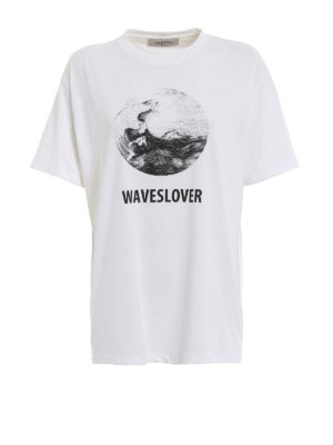 Valentino: t-shirts - Waveslover print relaxed Tee