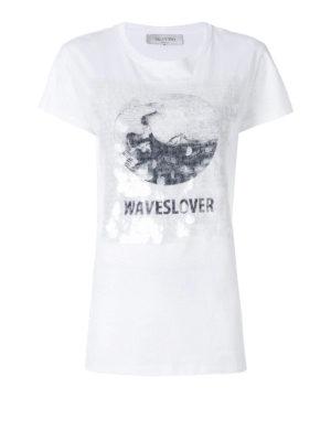 VALENTINO: t-shirt - T-shirt Waveslover bianca