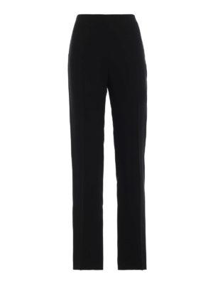 VALENTINO: Pantaloni sartoriali - Pantaloni a gamba dritta in seta