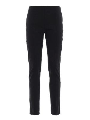 VALENTINO: Pantaloni sartoriali - Pantaloni neri in pura lana stretch