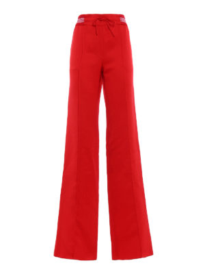 Valentino: Tailored & Formal trousers - Fluid Ottoman formal red trousers