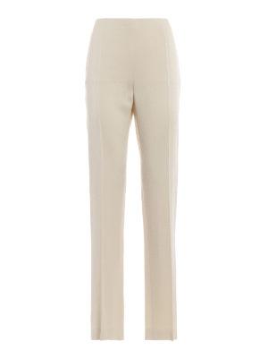 VALENTINO: Pantaloni sartoriali - Pantaloni in crepe cady avorio