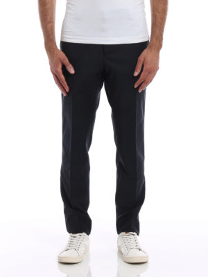 Valentino: Tailored & Formal trousers online - Contrasting side band trousers