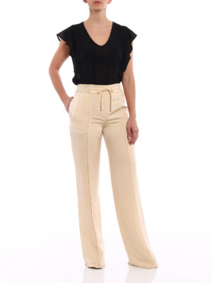 Valentino: Tailored & Formal trousers online - Pearly Fluid Ottoman trousers