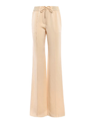 Valentino: Tailored & Formal trousers - Pearly Fluid Ottoman trousers