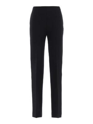 VALENTINO: Pantaloni sartoriali - Pantaloni a sigaretta in seta misto lana