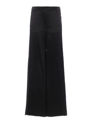 Valentino: Tailored & Formal trousers - Textured silk palazzo trousers