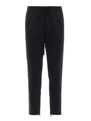 VALENTINO: pantaloni sport - Pantaloni da jogging neri in misto cotone