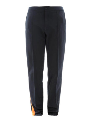 Valentino: tracksuit bottoms - Cotton blend black track pants