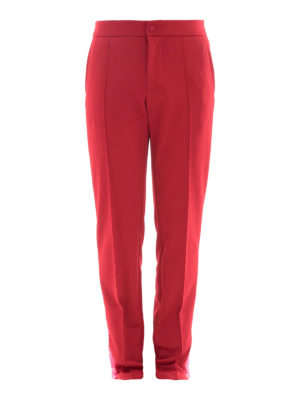 Valentino: tracksuit bottoms - Cotton blend red track pants