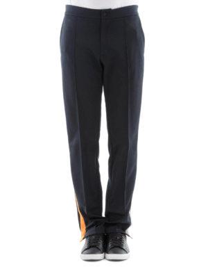 Valentino: tracksuit bottoms online - Cotton blend black track pants