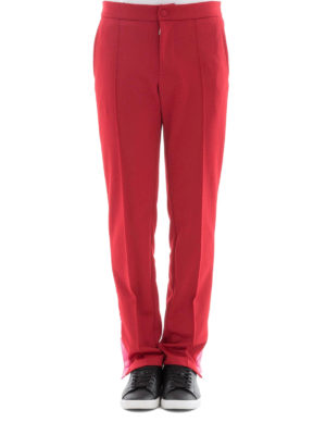 Valentino: tracksuit bottoms online - Cotton blend red track pants