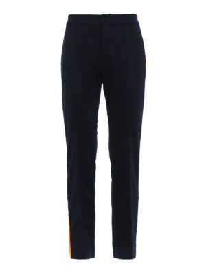 Valentino: tracksuit bottoms - Side band cotton blend track pants