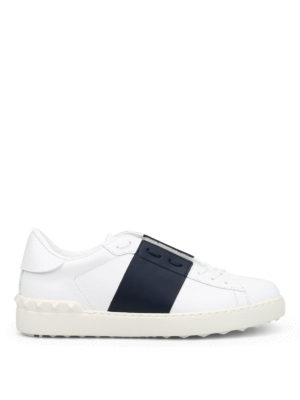Valentino: trainers - Open leather sneakers
