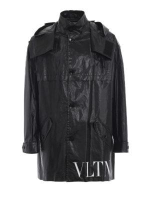 VALENTINO: cappotti trench - Trench VLTN con cappuccio in cotone spalmato