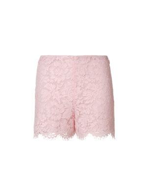 VALENTINO: pantaloni shorts - Shorts smerlati in Heavy Lace