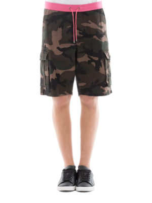Valentino: Trousers Shorts online - Camouflage cargo short pants