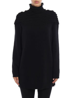 Valentino: Turtlenecks & Polo necks online - Lace inserts long knitted pullover