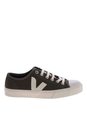 VEJA: trainers - Wata olive green organic cotton sneakers