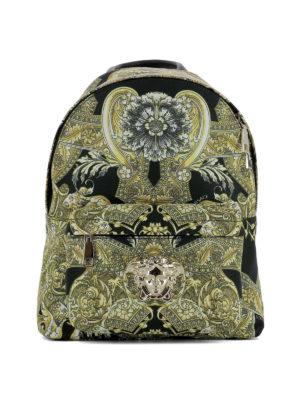 Versace: backpacks - Baroque printed nylon backpack