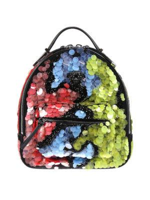 Versace: backpacks - Jagged Baroque sequin backpack