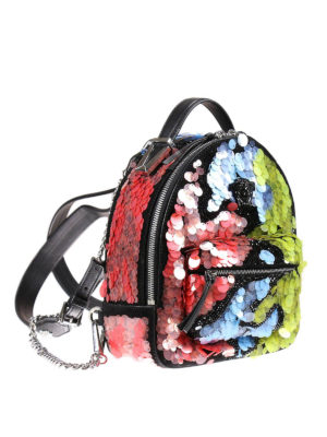 Versace: backpacks online - Jagged Baroque sequin backpack