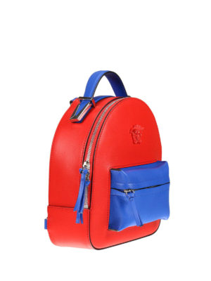 Versace: backpacks online - Palazzo two-tone napa backpack