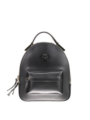 Versace: backpacks - Palazzo napa leather backpack