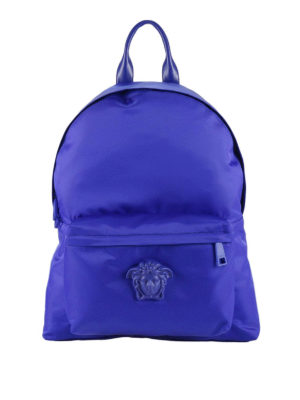 Versace: backpacks - Palazzo nylon backpack