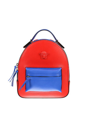 Versace: backpacks - Palazzo two-tone napa backpack