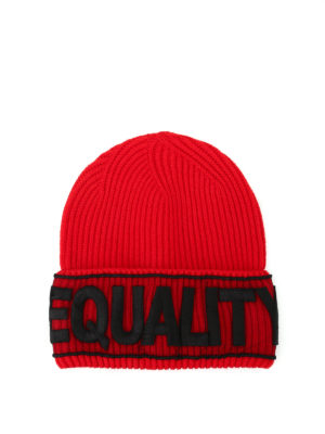 Versace: beanies - Equality knitted wool beanie