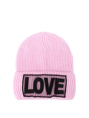 Versace: beanies - Love knitted wool beanie