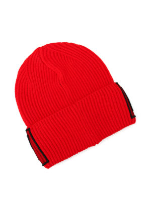 Versace: beanies online - Equality knitted wool beanie
