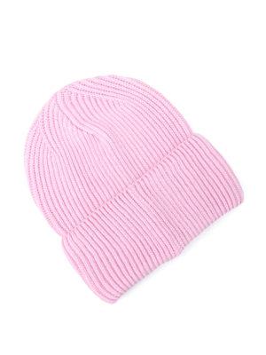 Versace: beanies online - Love knitted wool beanie