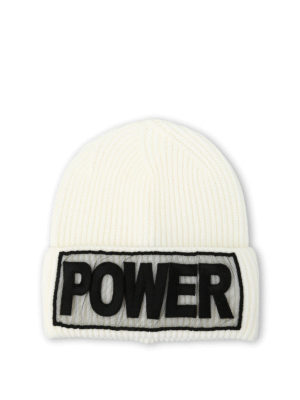 Versace: beanies - Power knitted wool beanie