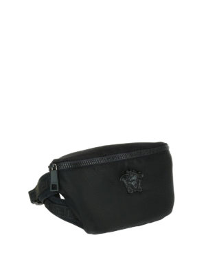 Versace: belt bags online - Medusa Head nylon belt bag