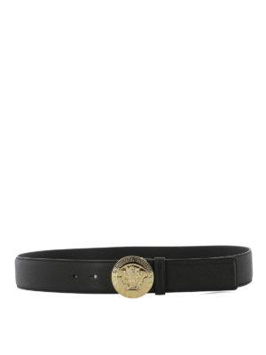 Versace: belts - Hammered leather belt
