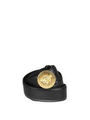 Versace: belts - Medusa and Greek fret leather belt